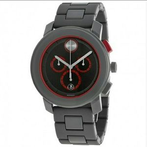 Movado  Other - NWT Movado Dark gray & red Chronograph watch