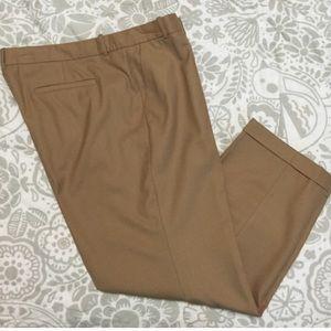 J. Crew Pants - J. Crew khaki Camel wool Capri pants 16