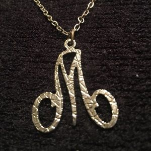 "Jewelry - ""M"" pendant necklace in calligraphy"