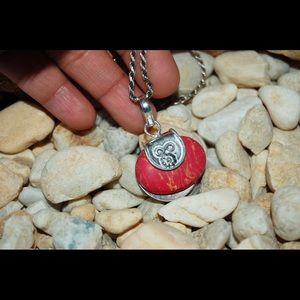 "handmade & handcrafted gemstone jewelry Jewelry - Mosaic Jasper Pendant 1.2"" 925S"