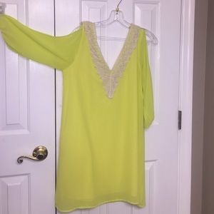 sage Tops - Tunic dress. Neon colored. Size medium.