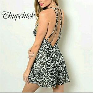 Chupchick  Pants - SALE! Leopard printed romper .