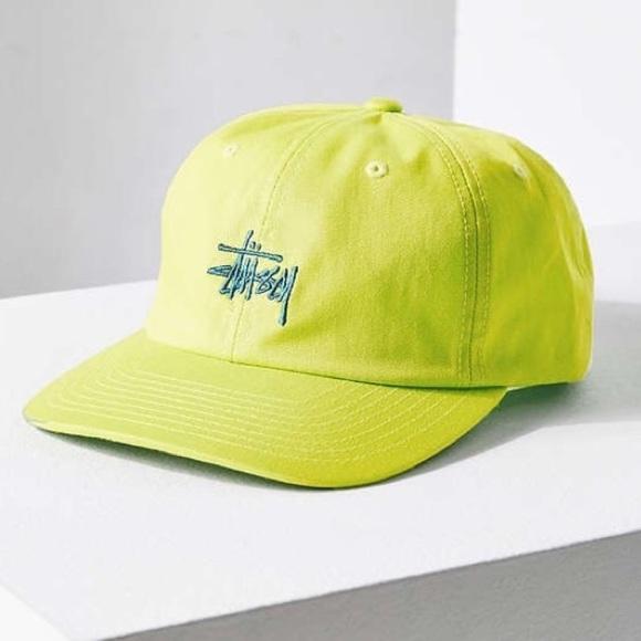 40d3aeae361 NWT Stussy Neon Classic Logo Snapback Hat