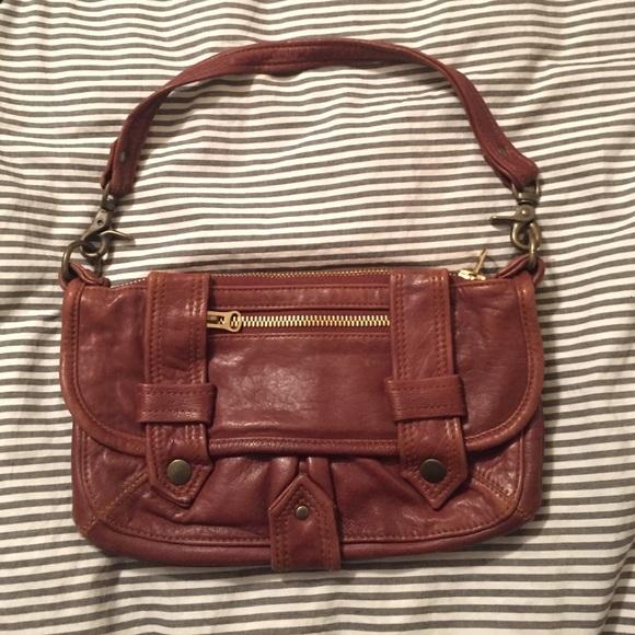 f54fee8bf484 Mike   Chris Cognac Genuine Leather Purse Clutch. M 5861d28ff09282db2f044256