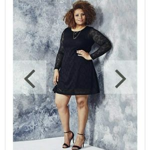Simply Be Dresses & Skirts - Daisylace black swing dress NWT