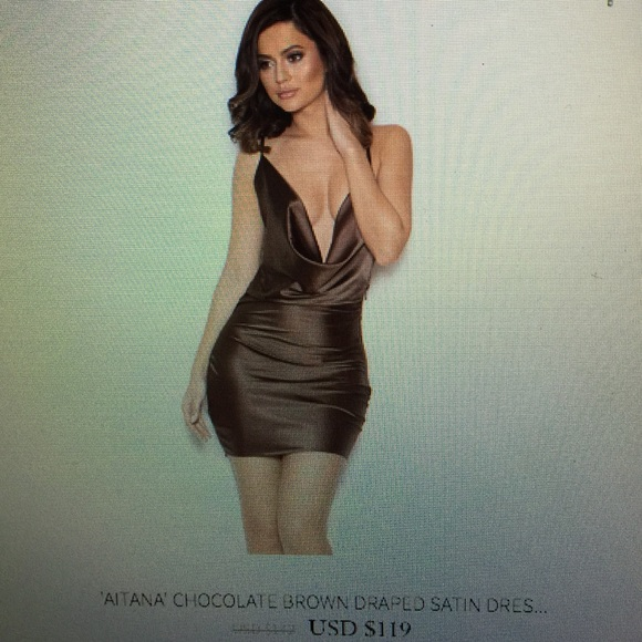 37% off house of CB Dresses & Skirts - House of Cb chocolate brown ...