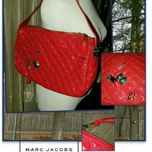 Marc Jacobs quilted patent shoulder bag
