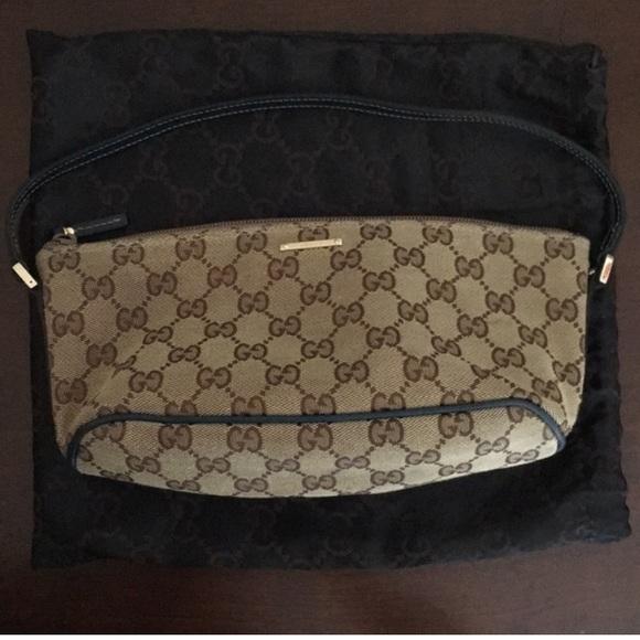 27d3f655e0435a Gucci Bags | Gg Monogram Canvas Pochette | Poshmark