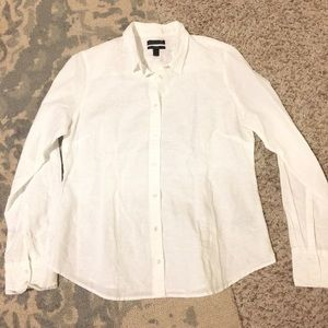 J.crew Perfect Shirt in Cotton-Linen, Size 12, NWT