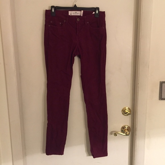 58% off H&M Pants - H&M Maroon corduroy pants from Kylie's closet ...