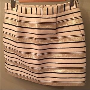 J. Crew Striped Shimmer Skirt