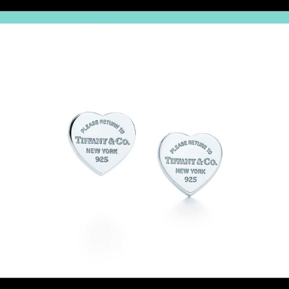 6992a70b8 Tiffany & Co. Jewelry   Return To Tiffanys Medium Heart Tag Earrings ...