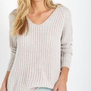 Gray/silver knit pullover