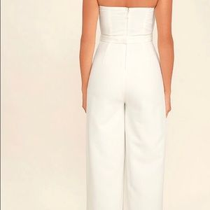 0f826330218 Lulu s Pants - Pop life white strapless jumpsuit
