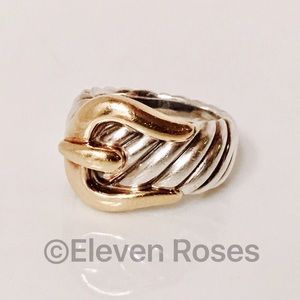 David Yurman Jewelry - David Yurman 925 & 18k Classic Cable Buckle Ring