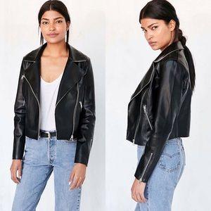 Urban Outfitters Jackets & Blazers - NWT UO Raw Edge Vegan Leather Moto Jacket S+N