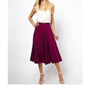 ASOS Purple Midi Skirt 0 (UK 4)
