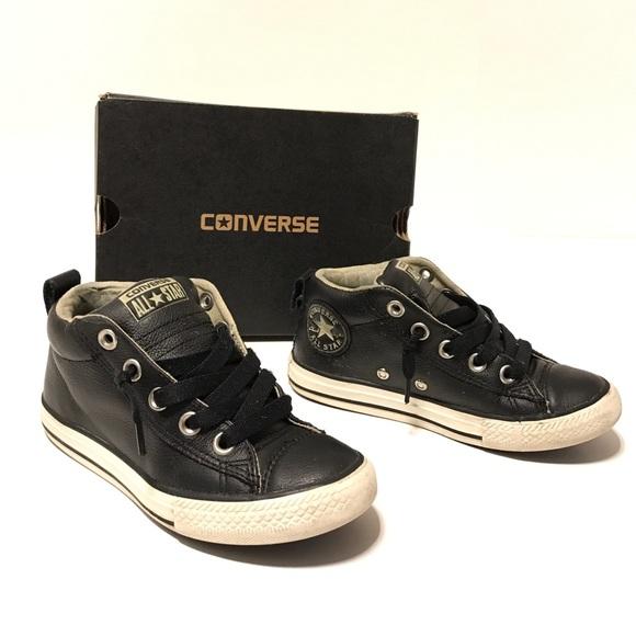 Guttene Converse Sko Lær RDURsQKDJ6
