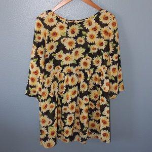 Dresses & Skirts - Forever 21 sunflower babydoll dress