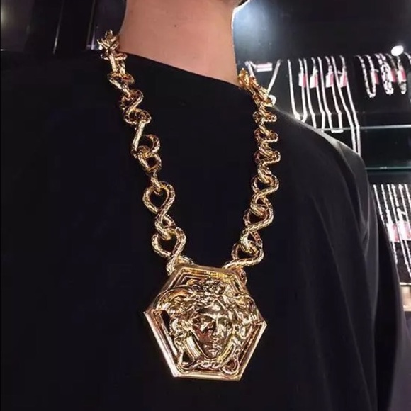 Versace accessories by haas brothers medusa pendant necklace m5862093a9c6fcf6fee16c0ed aloadofball Images
