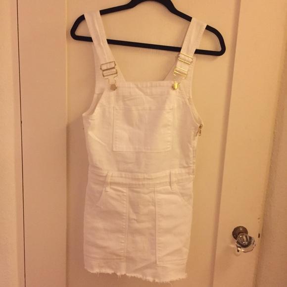 ebd37a4eb4a FRAME Dresses   Skirts - FRAME WHITE DENIM OVERALL DRESS