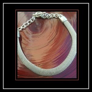 Gorgeous Silver Metal Mesh Necklace