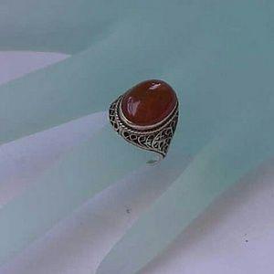 Jewelry - Antique 14k gold genuine Carnelian filigree ring