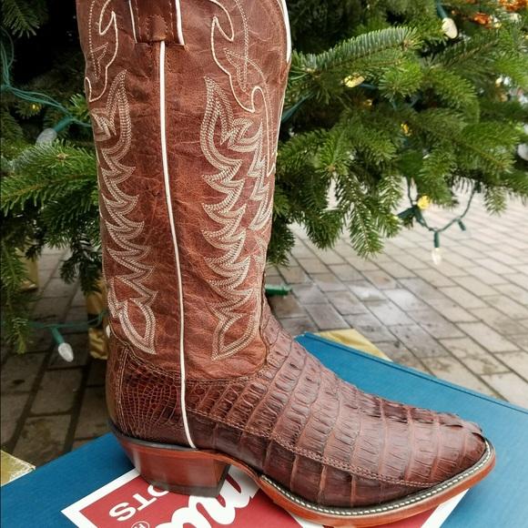 4219674ccb9 *NIBWT* TONY LAMA Vintage Cognac Crocodile Boots NWT