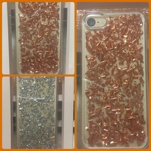 Nanette Lepore Accessories - 🎈NANETTE LEPORE Rose Gold/Silver Foil IPhone Case
