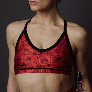 Emily Hsu Designs Tops - Emily Hsu Designs Red Roses Sports Bra S M L