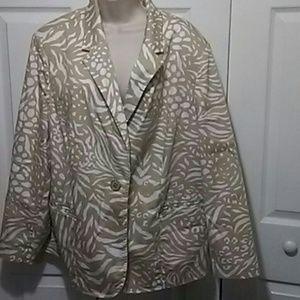 Susan Graver Jackets & Blazers - Susan Graver Tan and Cream Jacket