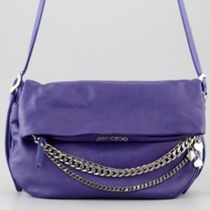 Jimmy Choo Handbags - Jimmy CHOO MAKE ANY OFFER!Chain Purple Biker Bag❤️