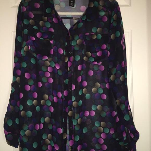 cc02cb376627d Lane Bryant Tops - Multi-color Polka Dot Blouse