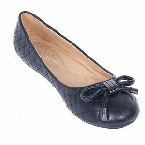 Women Ballet Flats with Bow, b-1608, Black