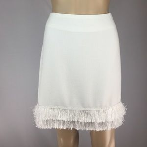 Fashion Union Dresses & Skirts - NWT White fringe skirt!