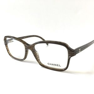 CHANEL Accessories - CHANEL Eyeglasses Brown Horn NWOT