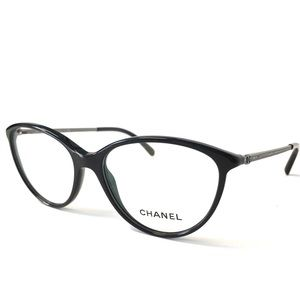 CHANEL Accessories - CHANEL Eyeglasses Black with Crystals NWOT