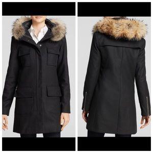 SAM. Jackets & Blazers - Like NEW SAM wool coat w Real Fur collar