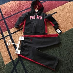 Nike Other - Boys baby 24 months Bike sweatsuit set NWT