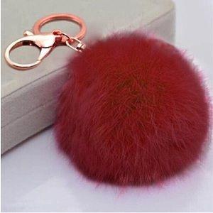Pom Pom Fur Keychain