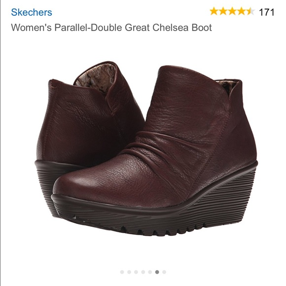Skechers Wedge Memory Foam Ankle Boot