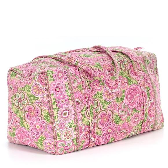 Vera Bradley Bags   Petal Pink Duffle Duffel Bag Travel   Poshmark d0a06616b3