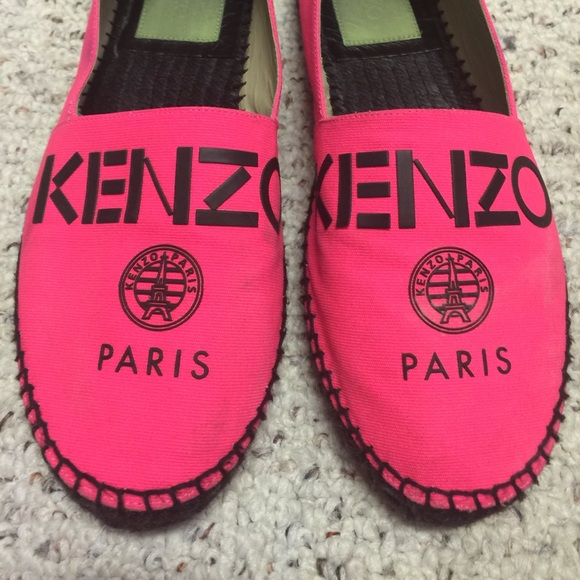 9b924f27ca3 Kenzo Shoes | Paris Hot Pink Espadrilles Flat 41 Size 9 | Poshmark
