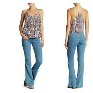 Joie Woman's Boho Hippie Mid-Rise Flare Jeans