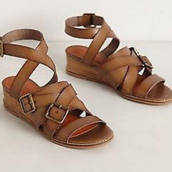 a671644ab554 Anthropologie Schuler   Sons Leather Sandals