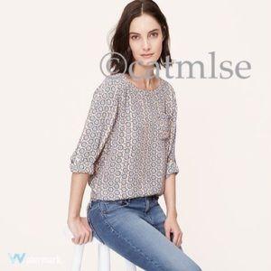 LOFT Tops - LOFT {Retail} Floral Charm Pocket Blouse XS