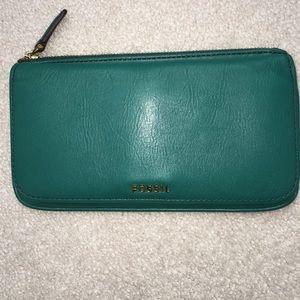 Green fossil wallet