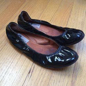 Lanvin Shoes - Lanvin black patent leather flats size 36