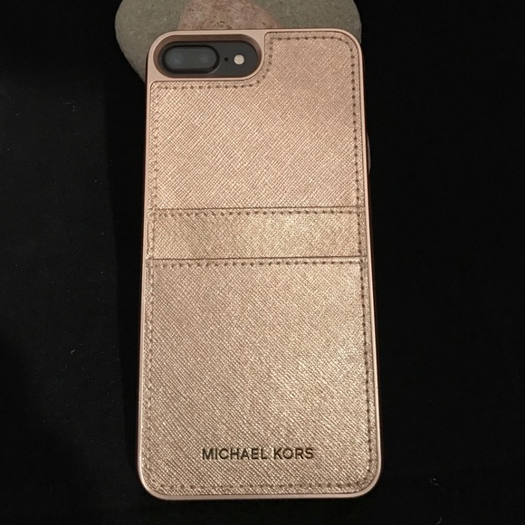 reputable site 81128 4d36f MICHAEL KORS iPhone 7 PLUS Phone Case w/pockets NWT