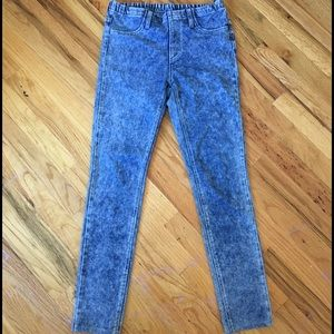 Uniqlo acid wash denim leggings jeggings small S